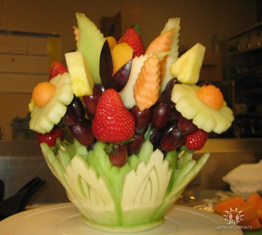 Вазы своими руками из фруктов