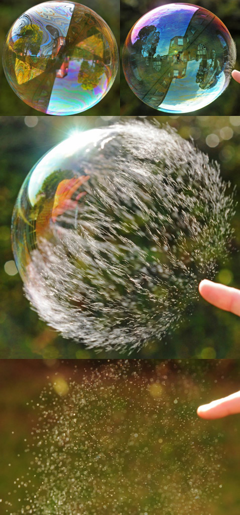Чтобы отснять схлопывание этого мыльного пузыря во всех деталях, фотографу понадобилось обзавестись камерой, делающей 500 снимков в секунду. Кроме того, пришлось дождаться безветренной погоды (фото Richard Heeks/Barcroft Media).