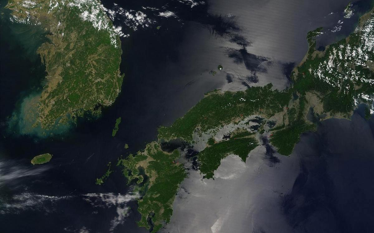 Вид земли из космоса. Фото NASA