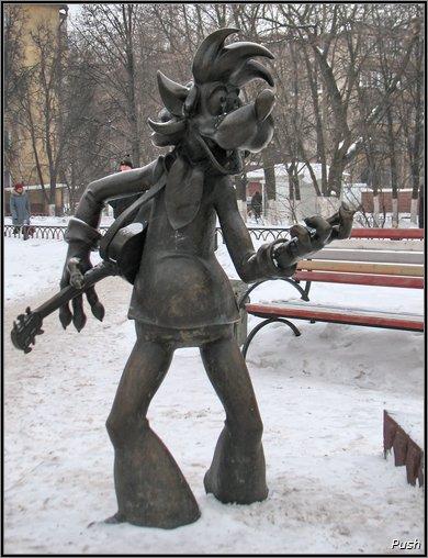 Памятник волку из