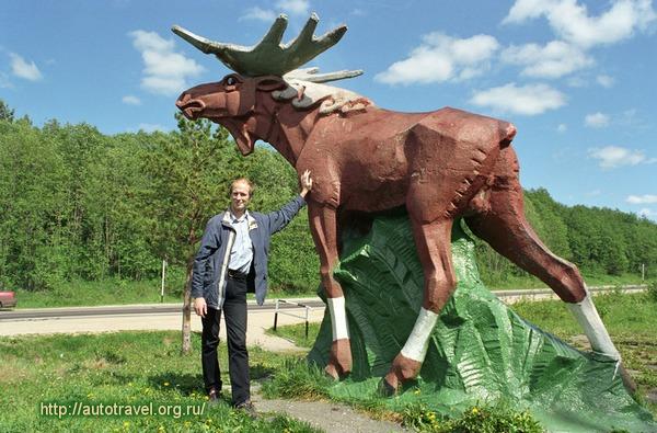 Памятник лосю в штате Небраска
