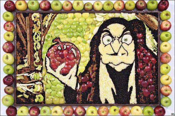 Яблочная Белоснежка и семь гномов