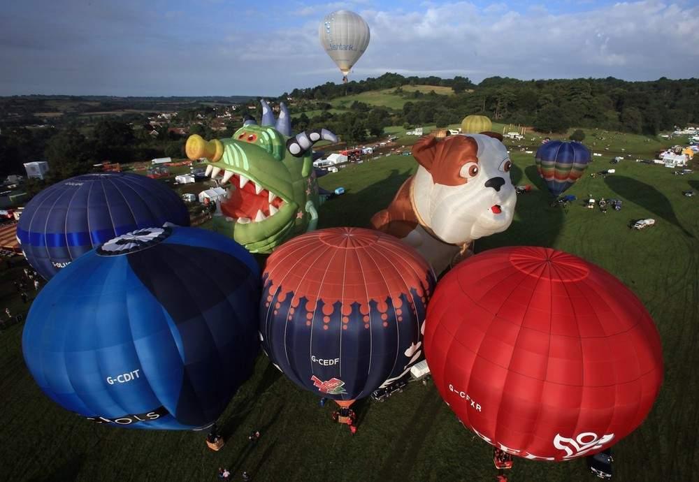 В Бристоле также прошел Международный заплыв шаров