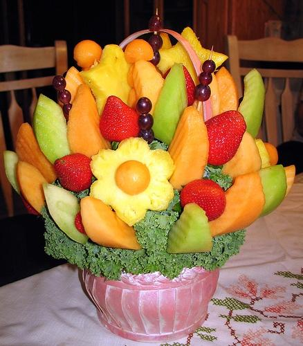Съедобные фруктовые букеты