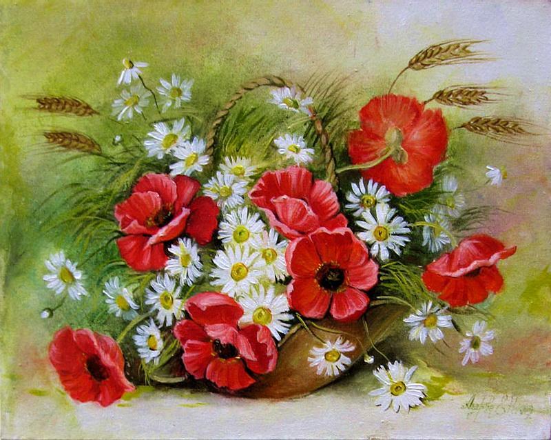 Корзина с цветами картинки