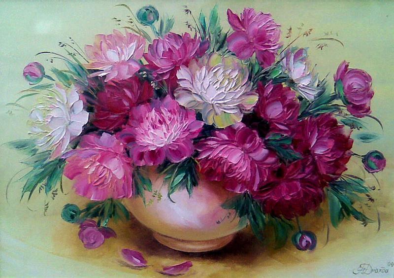 Картины с цветами маслом