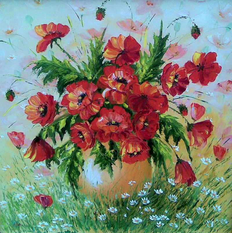 Букет ромашек  Анимация цветов ромашки рисунок gif