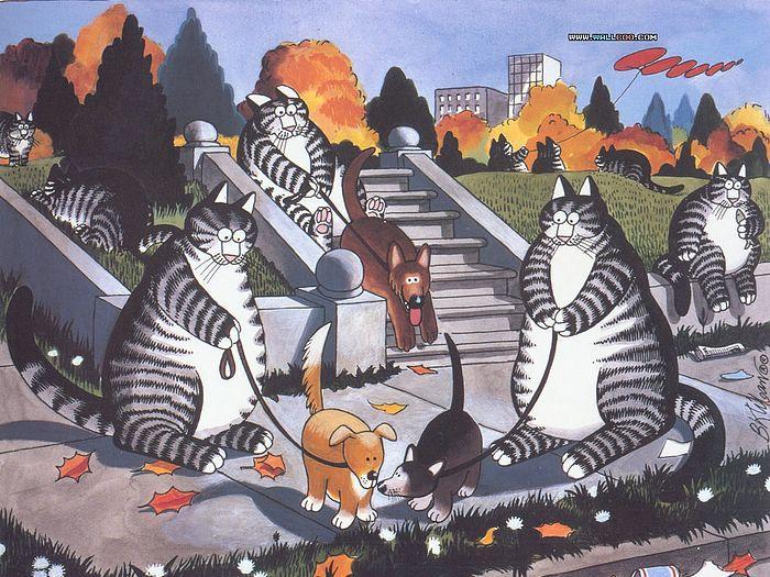 Кошачьи сны от Bernard Kliban