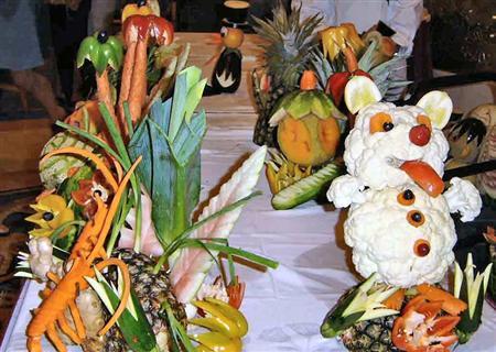 Резьба по фруктам и овощам
