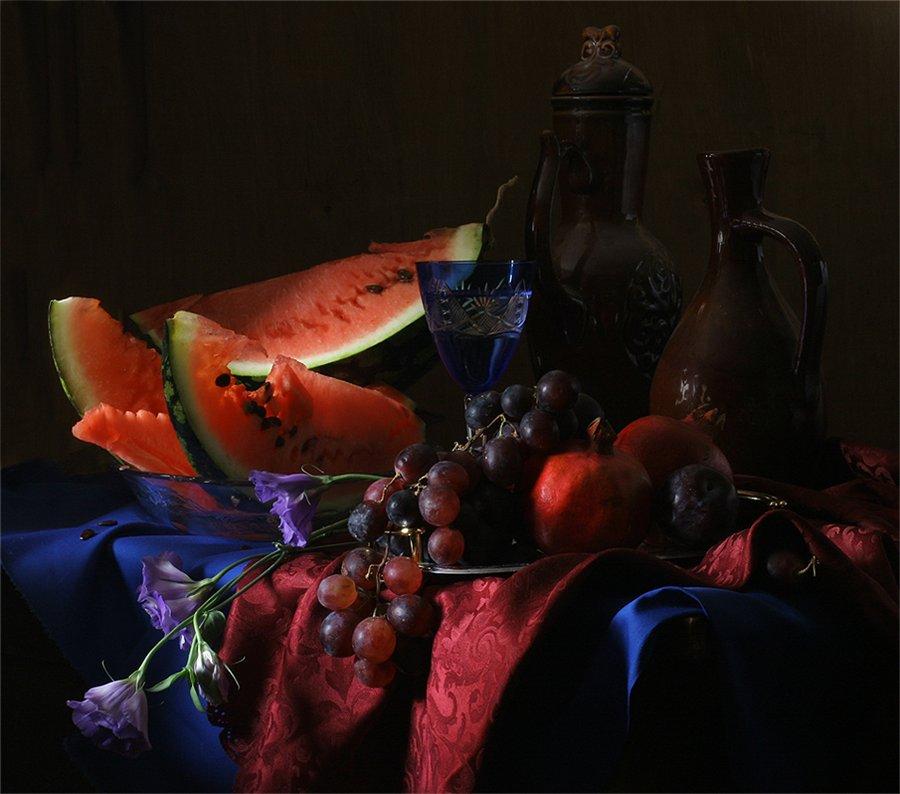 """Оригинал - Схема вышивки  """"Натюрморт с фруктами """" - Схемы автора  """"avzv """" - Вышивка крестом."""