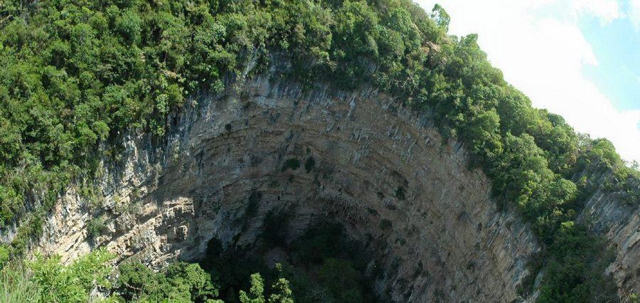 Пещер Ласточек (Sotano de las Golondrinas). Мексика.