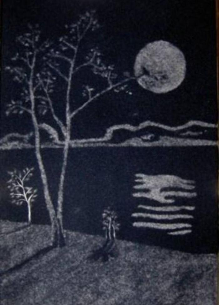Необычные картины из тополиного пуха