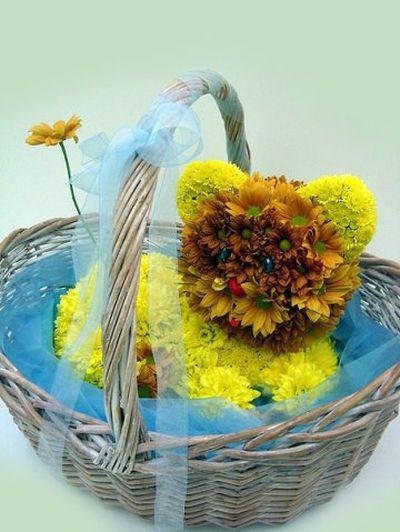 Поделка из цветов животные