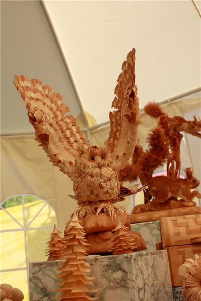 Зверушки из древесной стружки