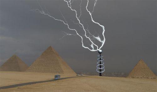 По технологиям Теслы Электрические вышки в пустыне