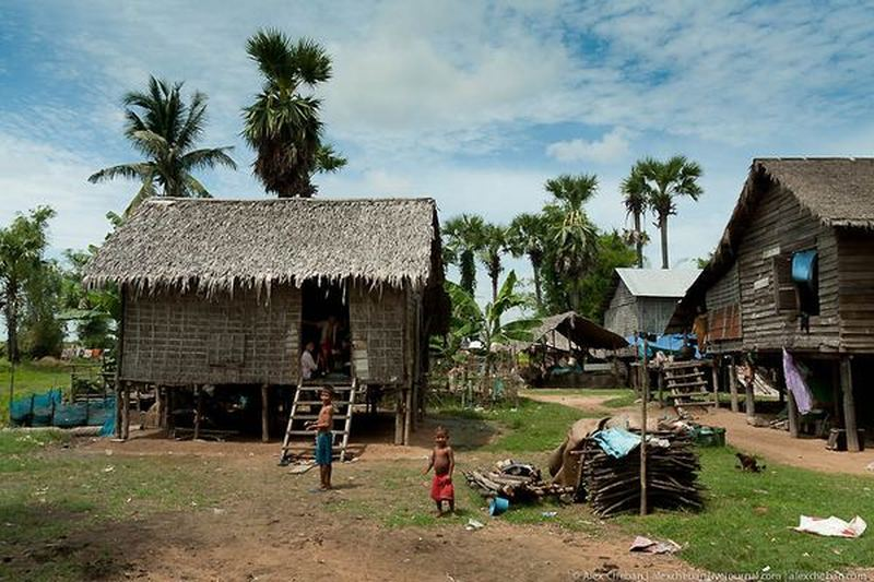Прогулка в чащу затопленного Камбоджийского леса