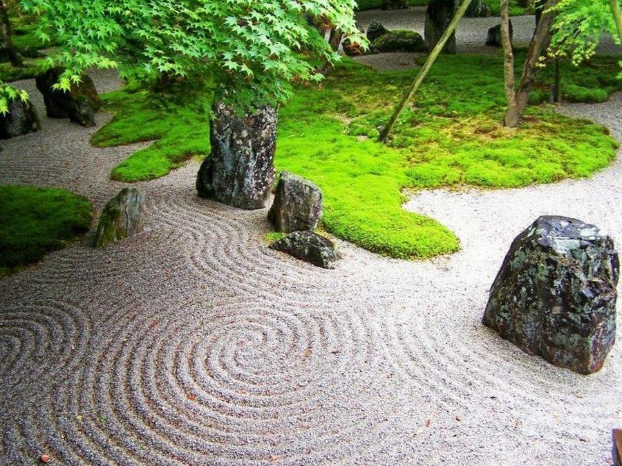 Японский сад символизирует совершенный мир земной природы, а иногда...