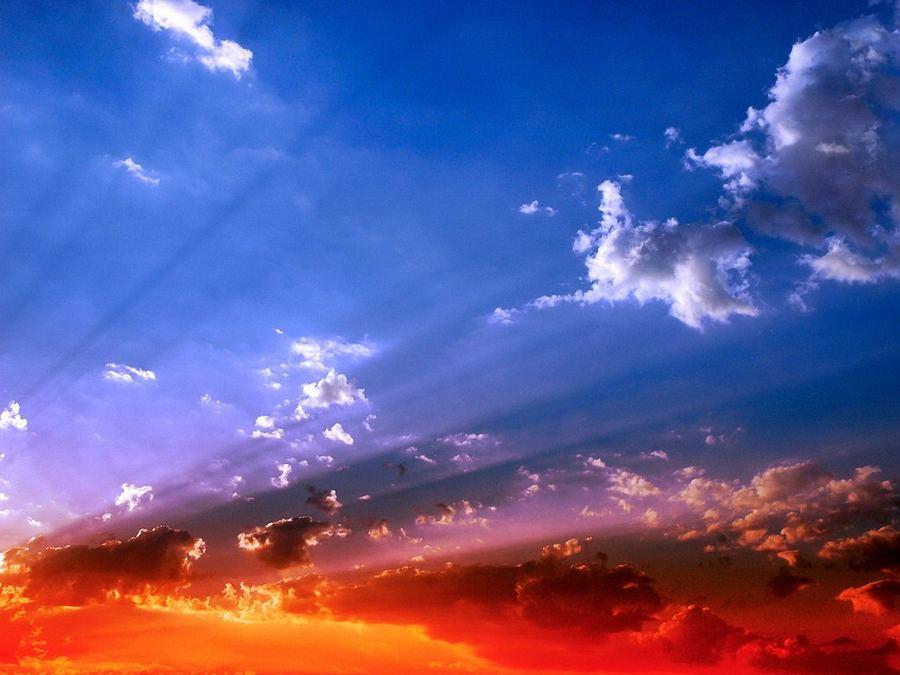 HQ wallpaper облака, небо, свет, цвет, 1920x1440.