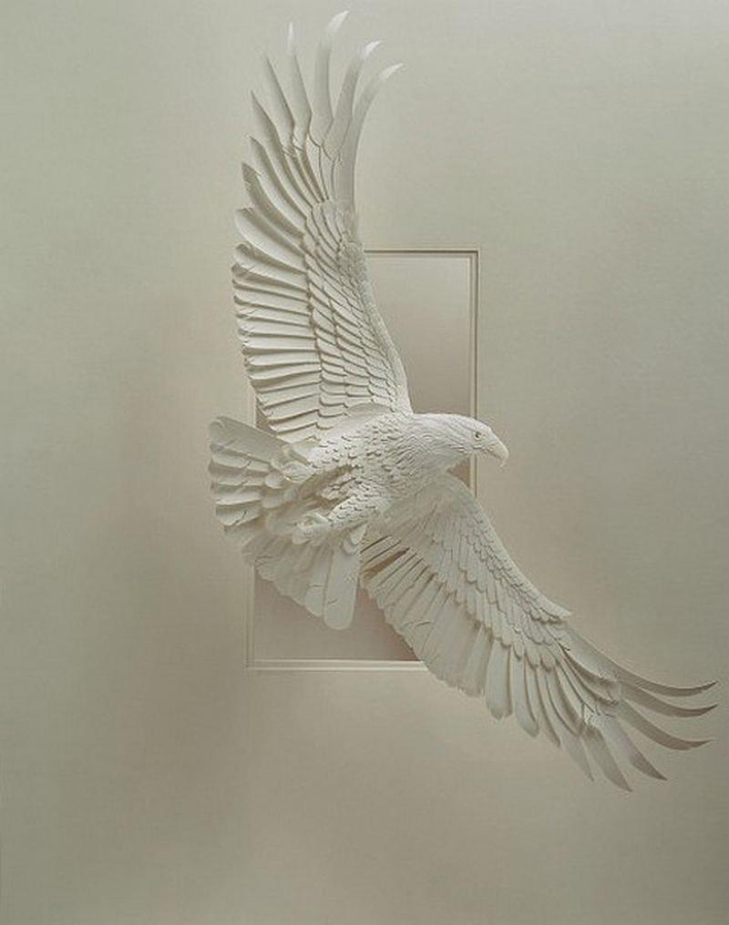 Удивительные скульптуры из бумаги от Calvin Nicholls