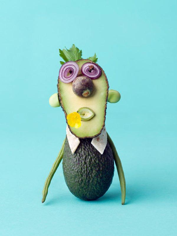 Как сделать из овощей и фруктов человечка