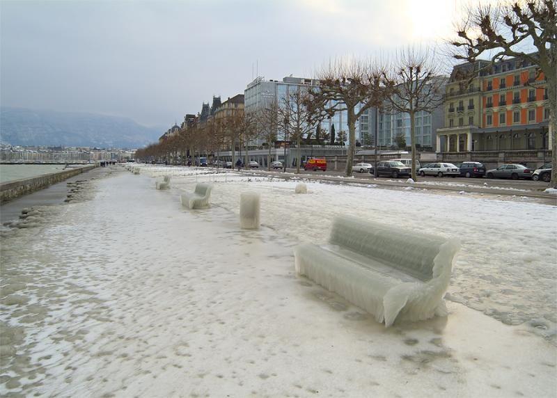 Ледяной шторм над Женевой, Швейцария