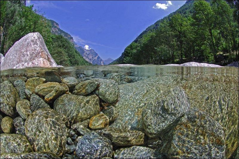 Верзаска – кристально чистая вода на глубине 15 метров