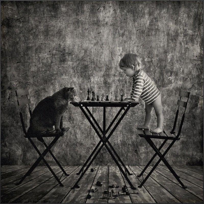 Фотопроект ''Маленькая девочка и кот Том'' от Andy Prokh