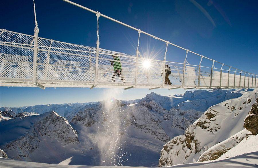 Самый высокий висячий мост в Европе