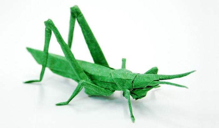 Оригами схема пчелы.