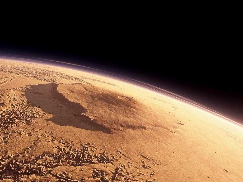 Гора Олимп - самая высокая гора в Солнечной системе