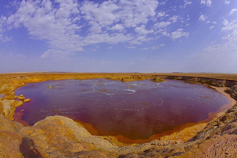 Внеземные пейзажи вулкана Даллол (Dallol)