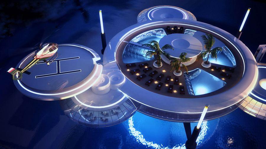 Проект подводного отеля Water Discus в Дубае
