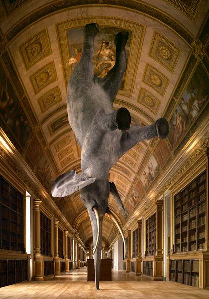 Слон бросающий вызов гравитации