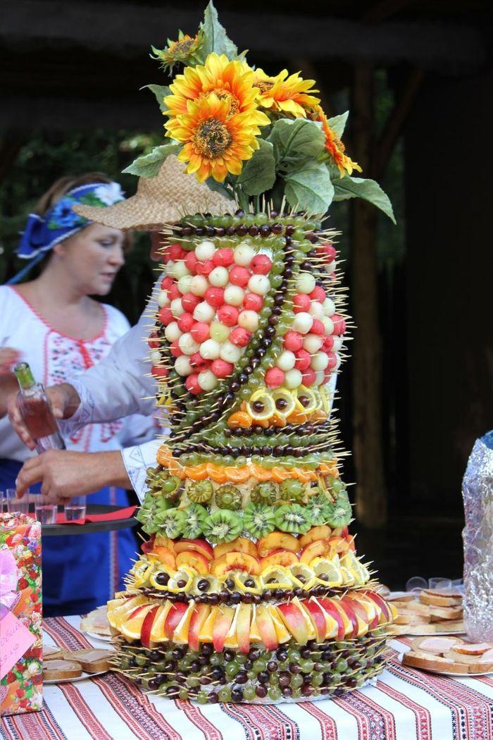 Цветы из овощей и фруктов