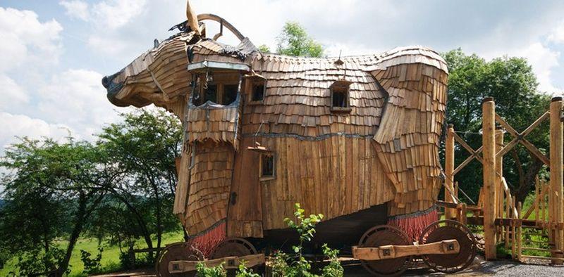 Сказочный отель La Balade Des Gnomes