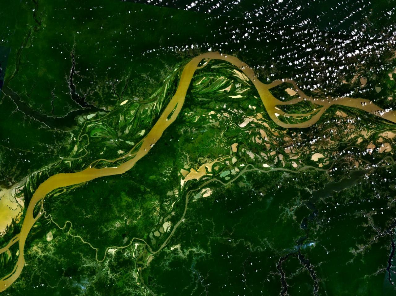 Река амазонка вид из космоса