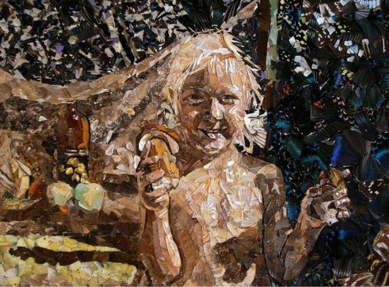 Картины из крыльев бабочек Вадима Зарицкого