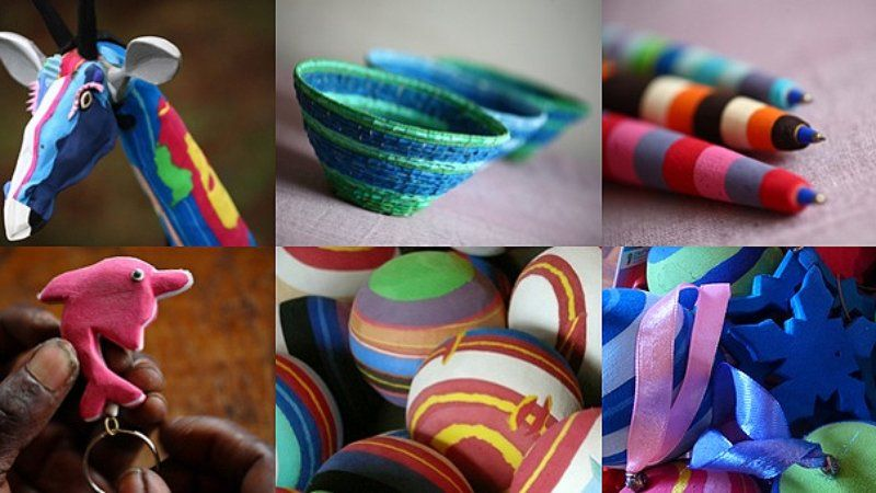 Забавные игрушки из резиновых сандалий