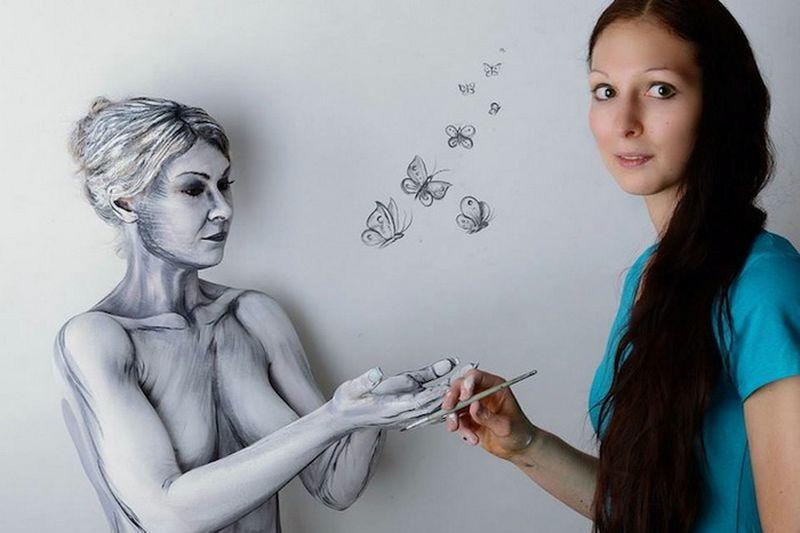 Рисунки на теле: боди-арт от Гезине Марведель (Gesine Marwedel)