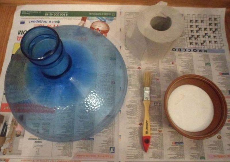 Мастер-класс: винтажная ваза из двух пластиковых бутылок