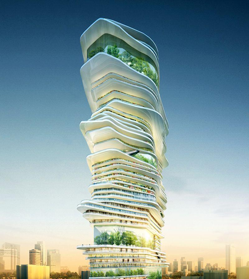 Архитектурный проект: Бесконечный небоскрёб