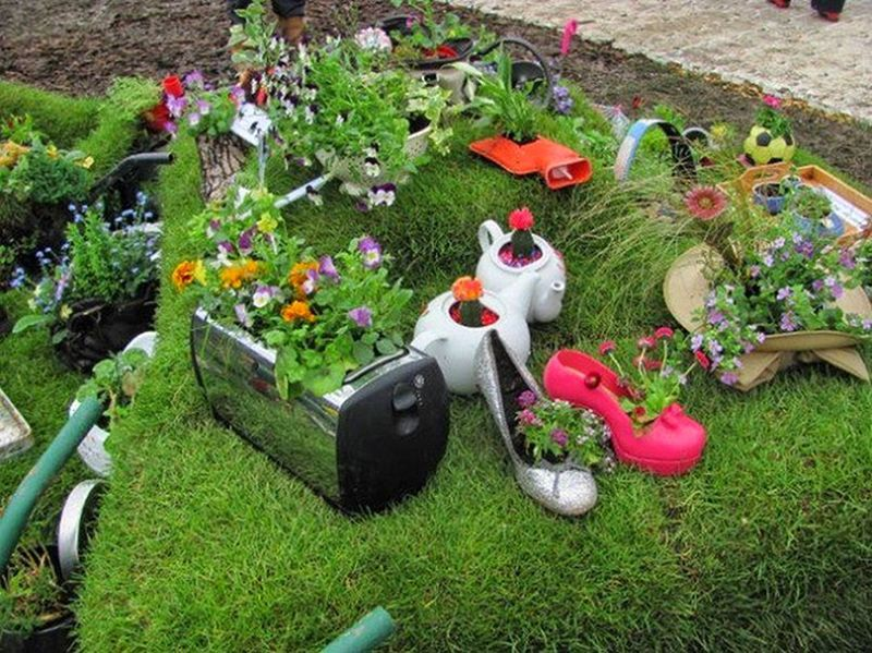 Декор сада огорода своими руками