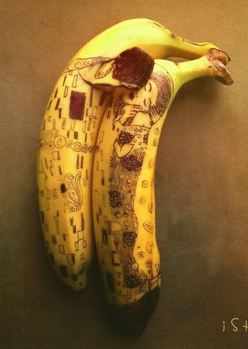 Банановый фуд-арт