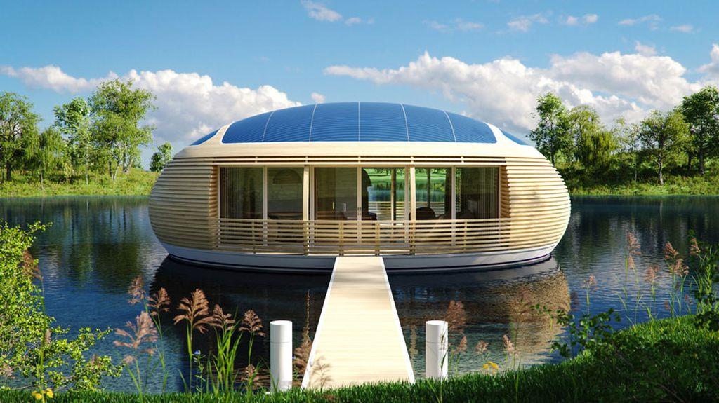 Экологичный дом на воде