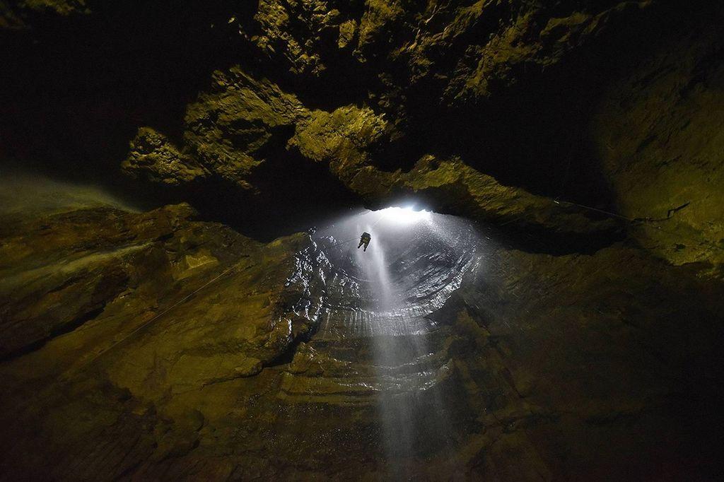 Пещера Gaping Gill, Англия