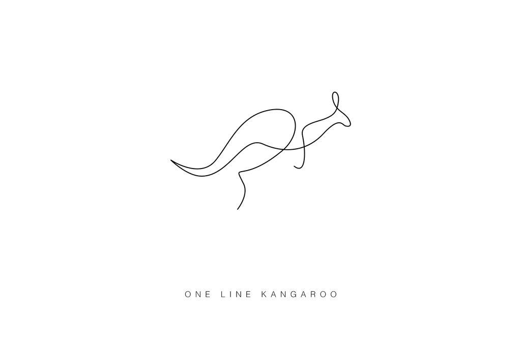 One Line Art Facepalm : Рисунки животных одной линией от david hallangen lake