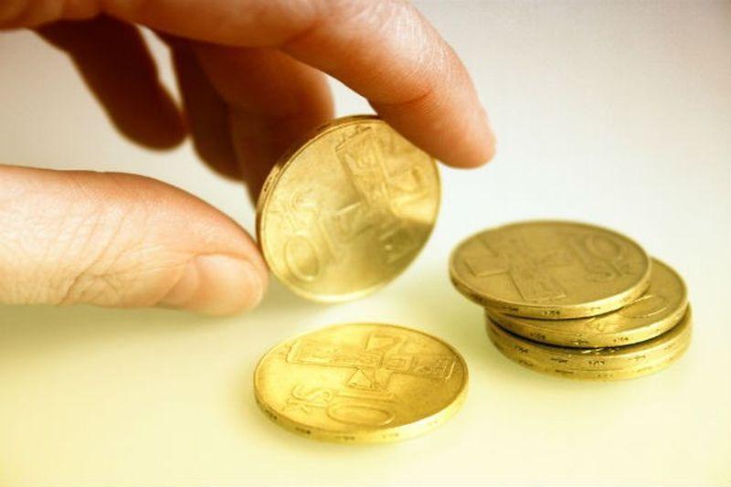 Стакан 2 вилки монетка
