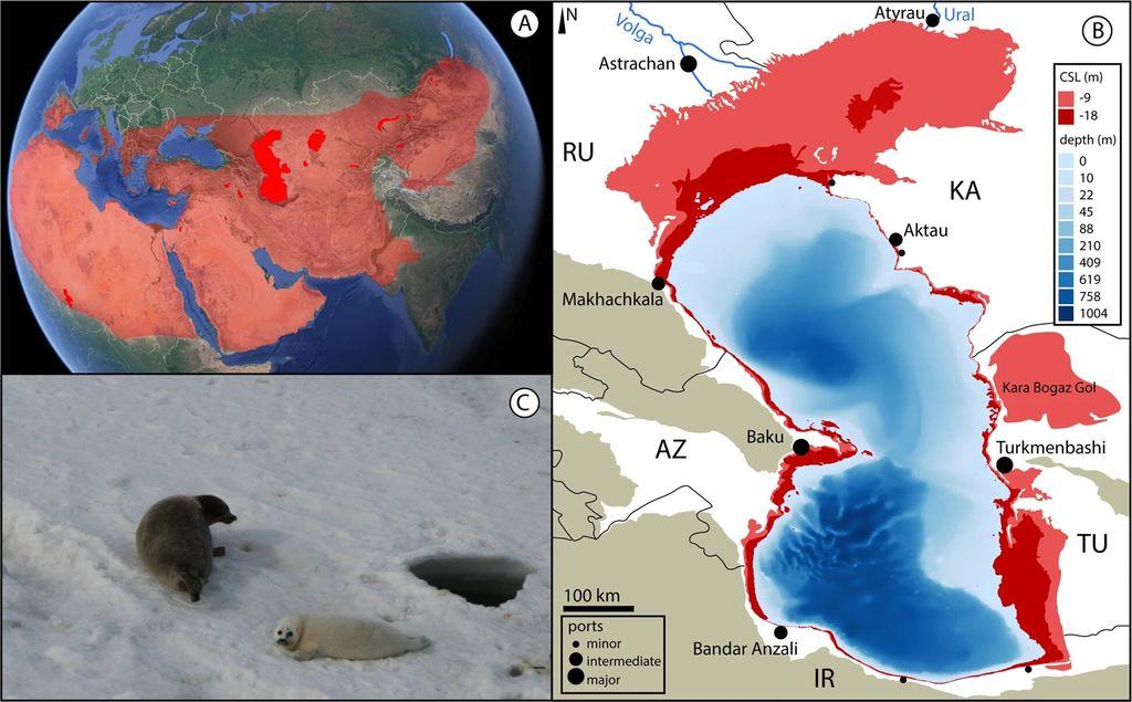 Каспийское море быстро уменьшается из-за изменения климата